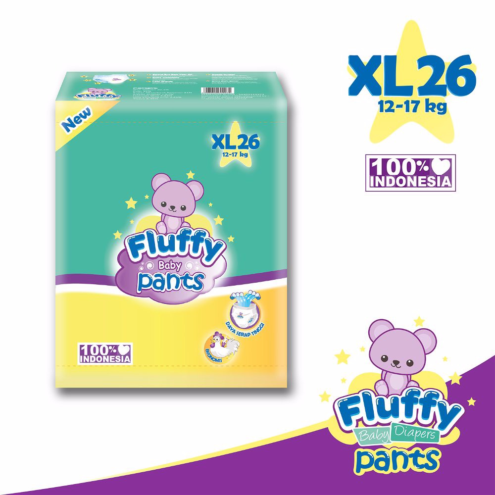 Fluffy Baby Pants Size M34 / L30 / Xl26 (promo)2