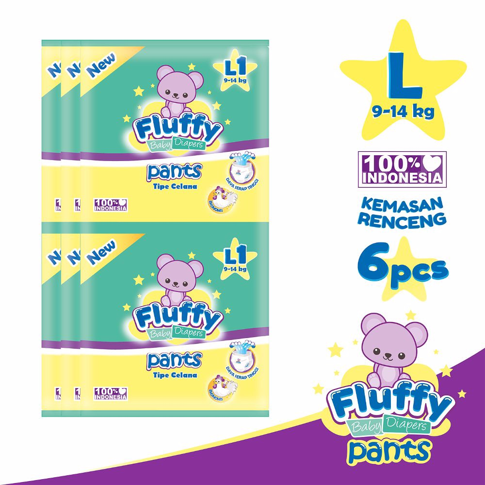 Fluffy Baby Pants L1 Isi @ 6pcs
