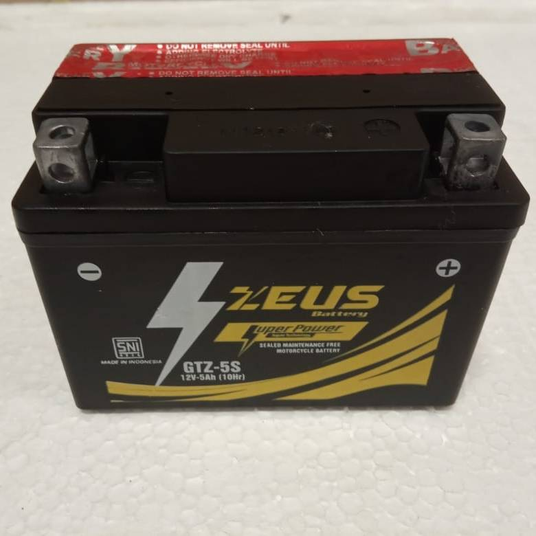 Aki Motor Kering Zeus Gtz5s Bs Mf (honda Beat, Yamaha Mio, Jupiter, Kawasaki Ninja)1