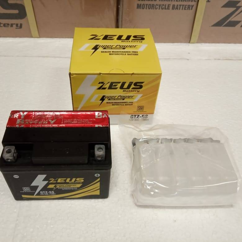 Aki Motor Kering Zeus Gtz5s Bs Mf (honda Beat, Yamaha Mio, Jupiter, Kawasaki Ninja)3