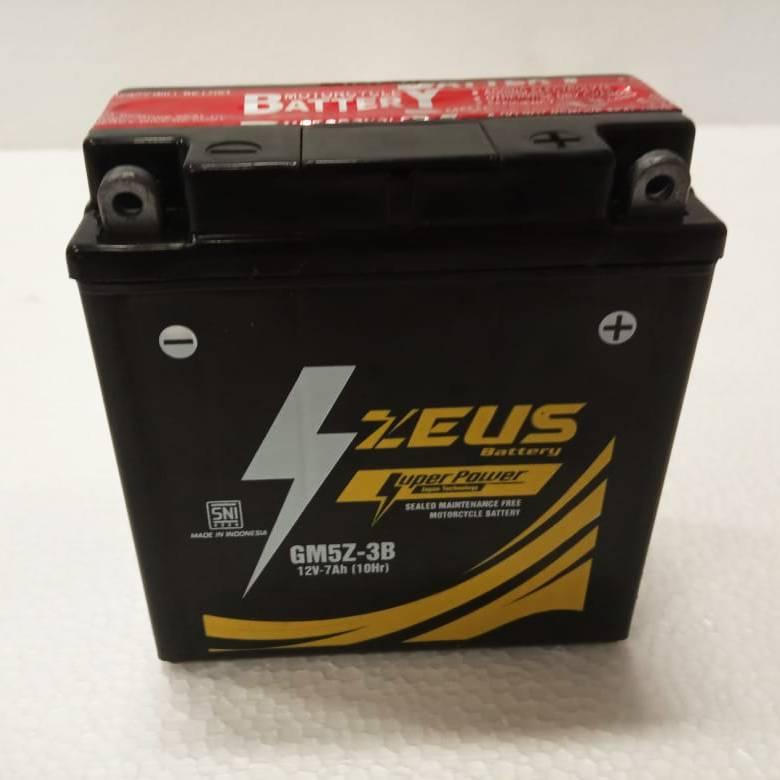 Aki Motor Kering Zeus Gm5z 3b Bs (satria Supra Rc100 Mio Jupiter F1-z)1