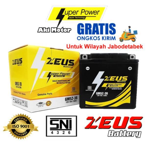 Aki Motor Kering Zeus Gtz5s Bs Mf (honda Beat, Yamaha Mio, Jupiter, Kawasaki Ninja)