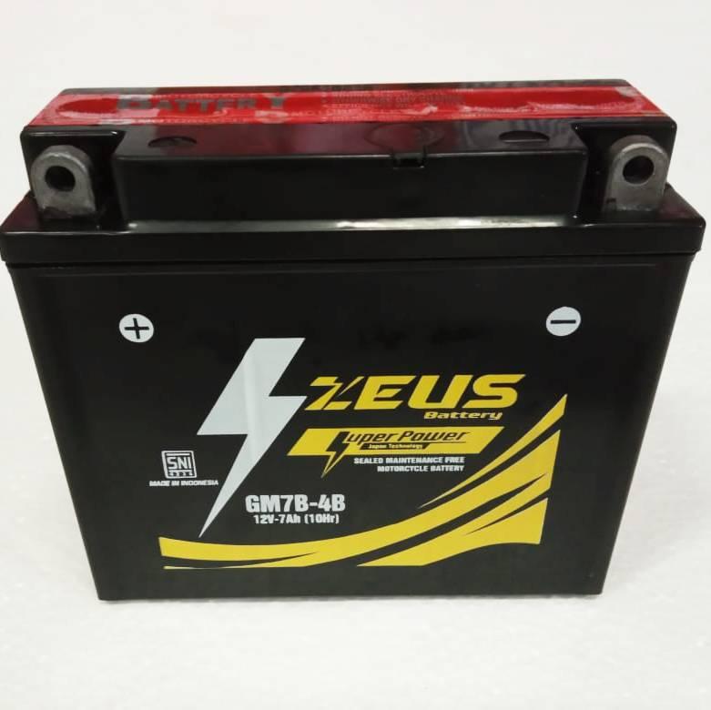 Aki Motor Kering Zeus Gm7b-4b Mf (honda Tiger 2000, Megapro, Yamaha)1
