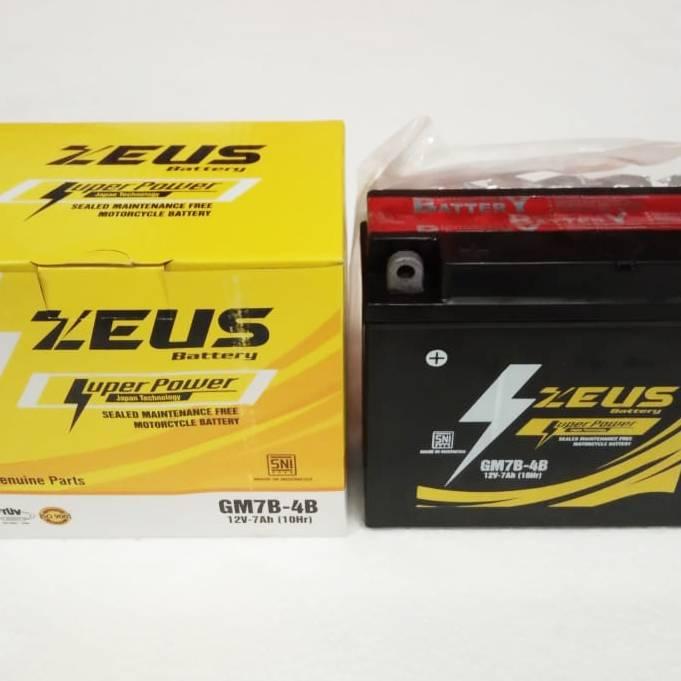 Aki Motor Kering Zeus Gm7b-4b Mf (honda Tiger 2000, Megapro, Yamaha)4