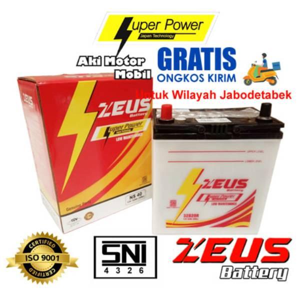 Aki Mobil Basah Zeus Ns40 - 32b20r - 32ah - Toyota Avanza | Daihatsu Xenia, Luxio | Suzuki...0