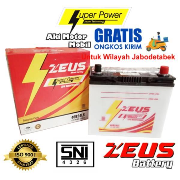 Aki Mobil Basah Zeus Ns60ls - 46b24ls Lm - 45 Amper