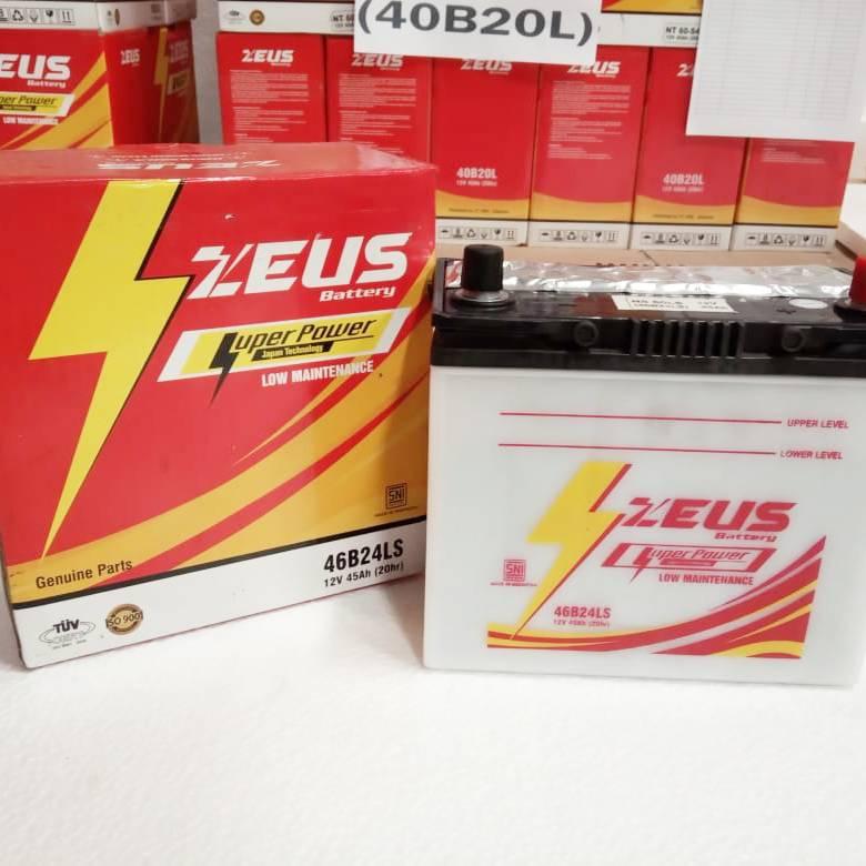 Aki Mobil Basah Zeus Ns60ls - 46b24ls Lm - 45 Amper1