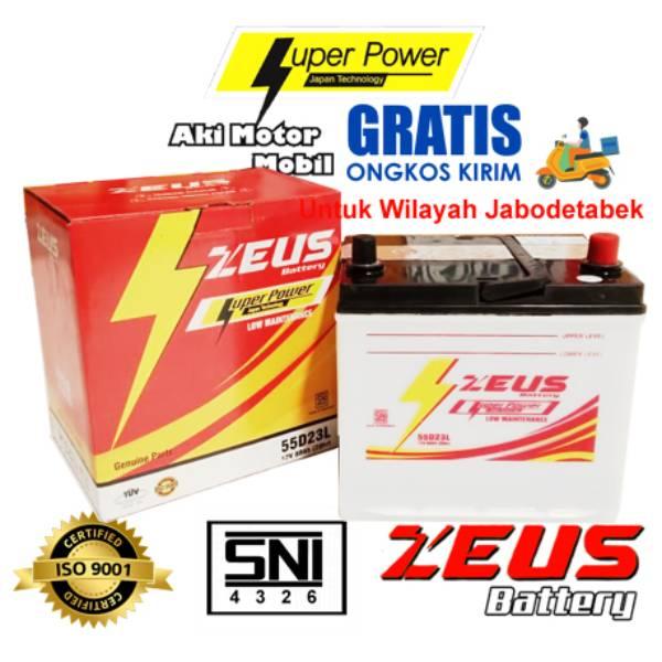 Aki Mobil Basah Zeus 55d23l 60 Amper Low Maintenance