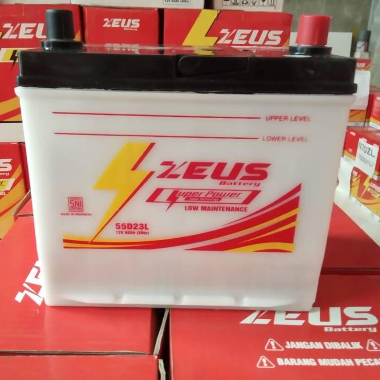 Aki Mobil Basah Zeus 55d23l 60 Amper Low Maintenance4