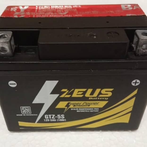 Aki Motor Vixion Yamaha - Zeus Gtz5s 5 Amper Super Power - Accu Kering1