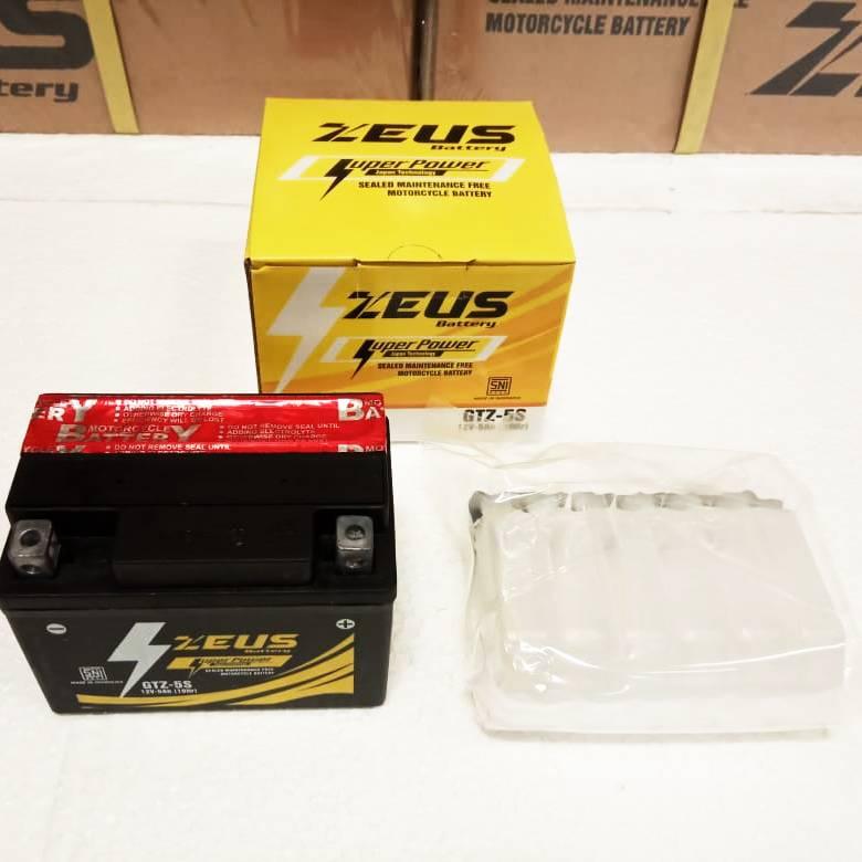 Aki Motor Vixion Yamaha - Zeus Gtz5s 5 Amper Super Power - Accu Kering3