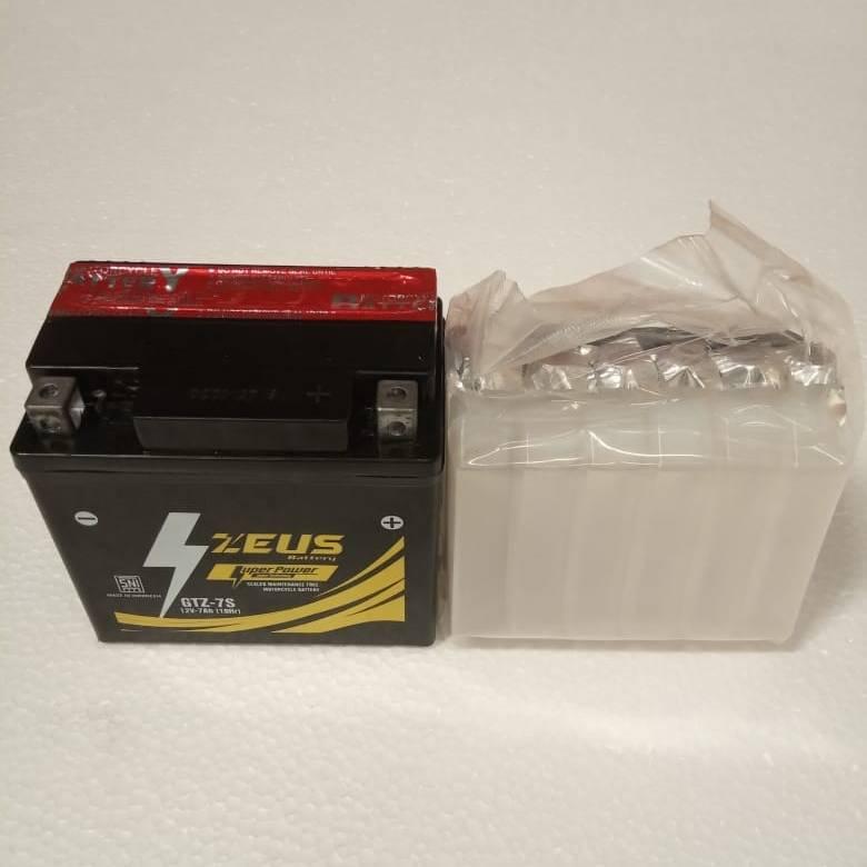 Aki Motor Honda Cbr 150 - Zeus Gtz 7s - Accu Kering 7 Amper2