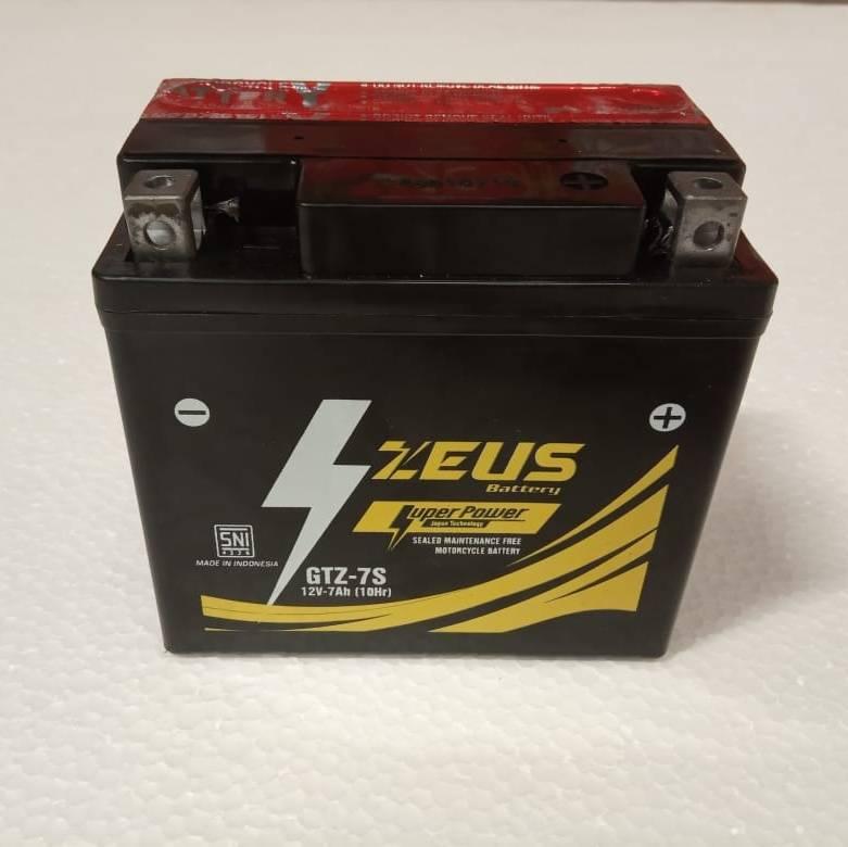 Aki Motor Honda Cbr 150 - Zeus Gtz 7s - Accu Kering 7 Amper3