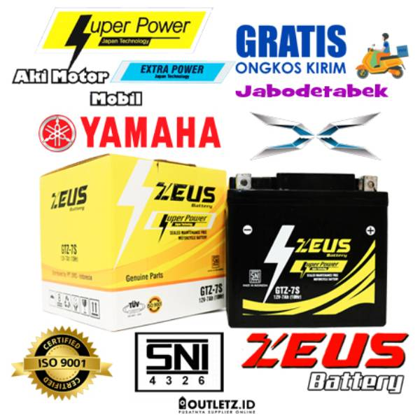 Aki Motor Xeon Rc Yamaha Zeus Gtz 7s Accu Kering 5 Ampere Garansi 3 Bulan