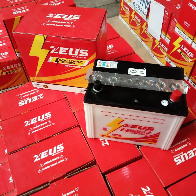 Aki Mobil Basah Zeus N50zl 55d26l Honda Accord Maestro/ Cielo / Sv 4a1