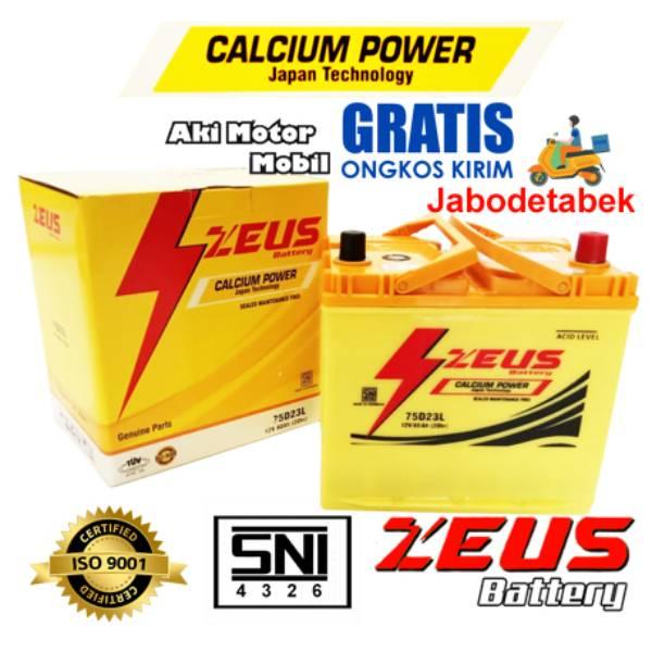 Aki Mobil Kijang Inova Diesel Tipe E/ G/ V Gs Zeus 75d23l Aki Kering Calcium