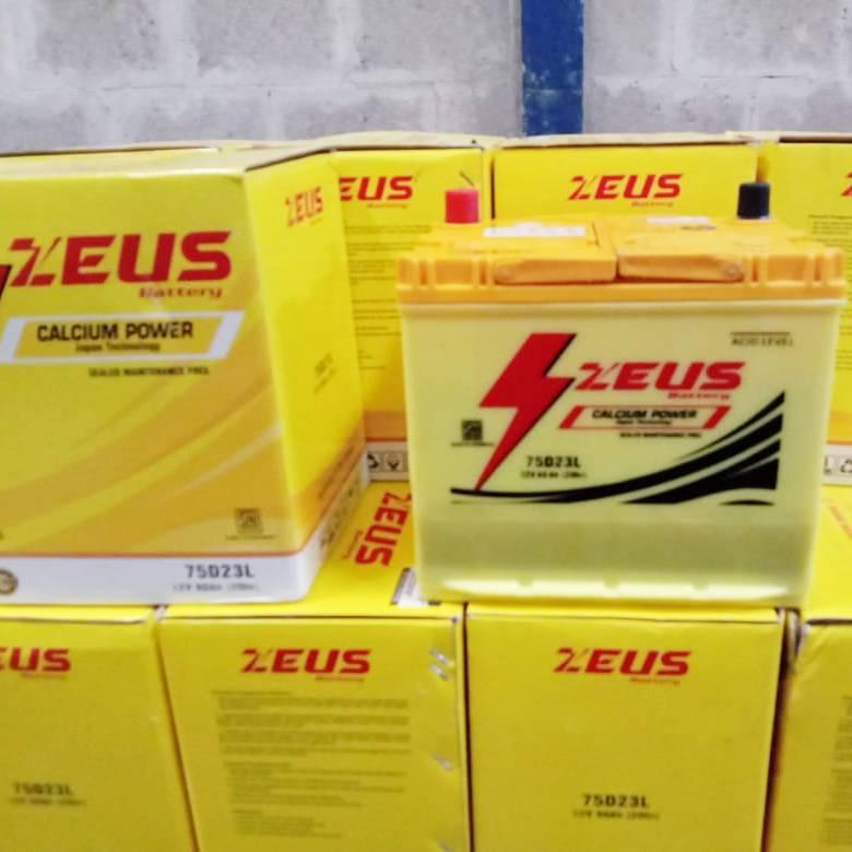 Aki Mobil Kijang Inova Diesel Tipe E/ G/ V Gs Zeus 75d23l Aki Kering Calcium1