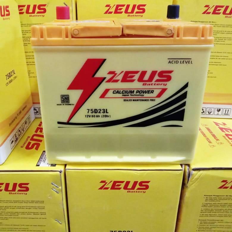 Aki Mobil Kijang Inova Diesel Tipe E/ G/ V Gs Zeus 75d23l Aki Kering Calcium2