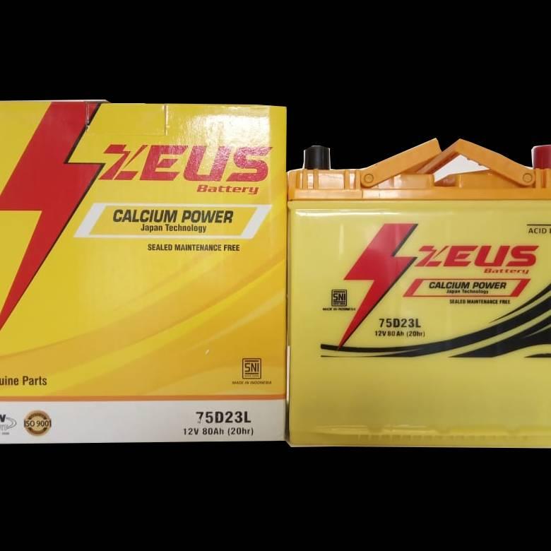 Aki Mobil Kijang Inova Diesel Tipe E/ G/ V Gs Zeus 75d23l Aki Kering Calcium3