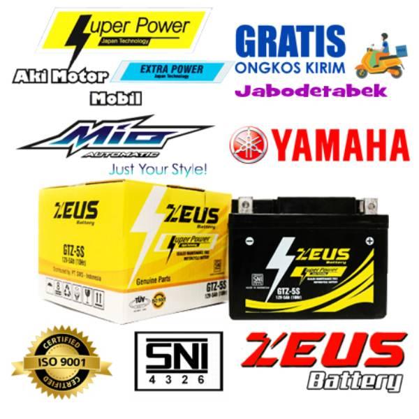 Aki Untuk Motor Mio Soul Yamaha Zeus Gtz5s Accu Kering 5 Amper