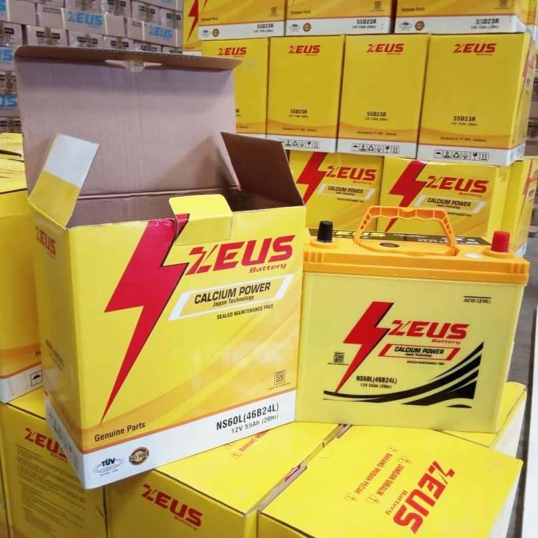 Aki Mobil Grand Livina Nissan Zeus Mf Ns60l Calcium Power 55 Amper4