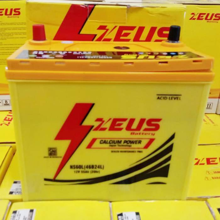 Aki Mobil Honda City Zeus Ns60l Calcium Power 55 Amper Mf2