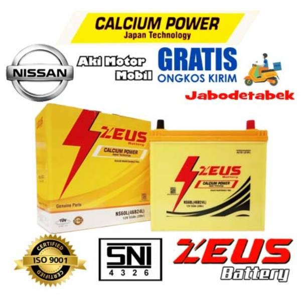 Aki Mobil Nissan Evalia Zeus Ns60l Calcium Power 55 Amper Mf