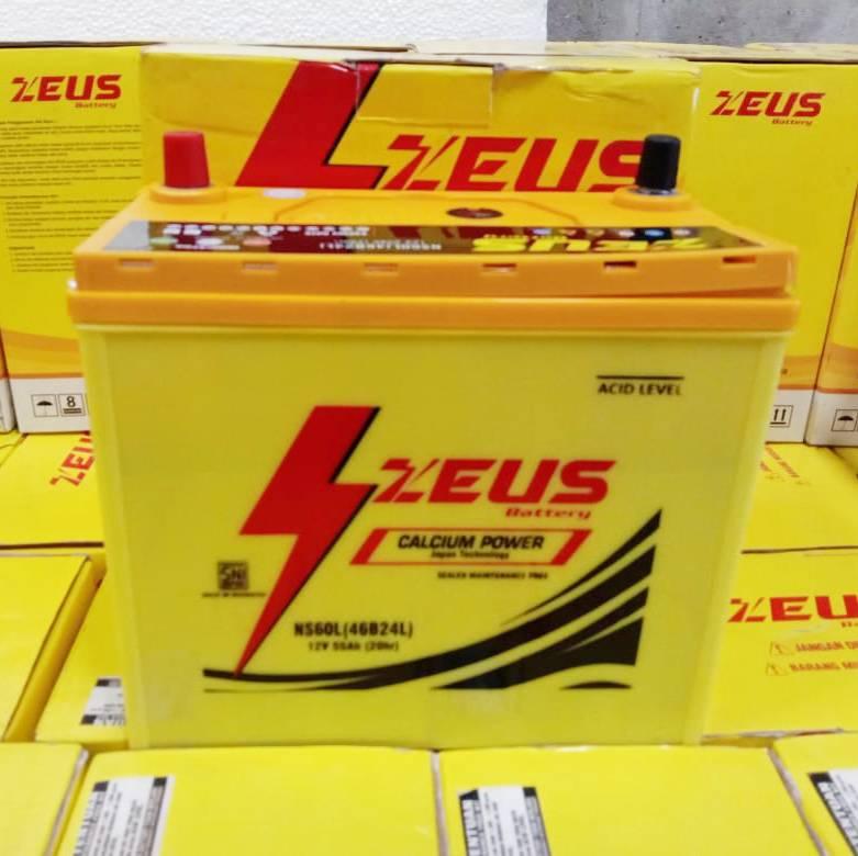 Aki Mobil Nissan Evalia Zeus Ns60l Calcium Power 55 Amper Mf4