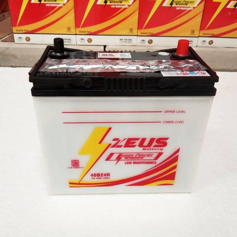 Aki Mobil Ns60 Zeus Untuk Toyota Avanza Accu Basah 45 Amper2