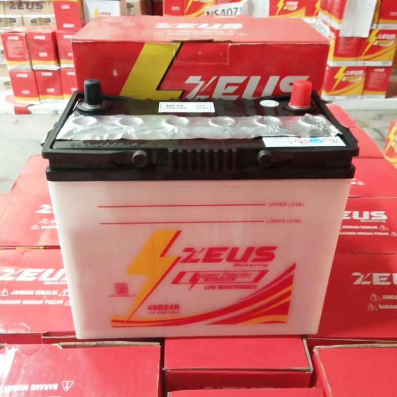 Aki Mobil Ns60 Zeus Untuk Toyota Avanza Accu Basah 45 Amper3