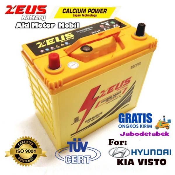 Aki Mobil Hyundai Kia Visto Nx100 S6 Zeus Accu Kering Calcium Power