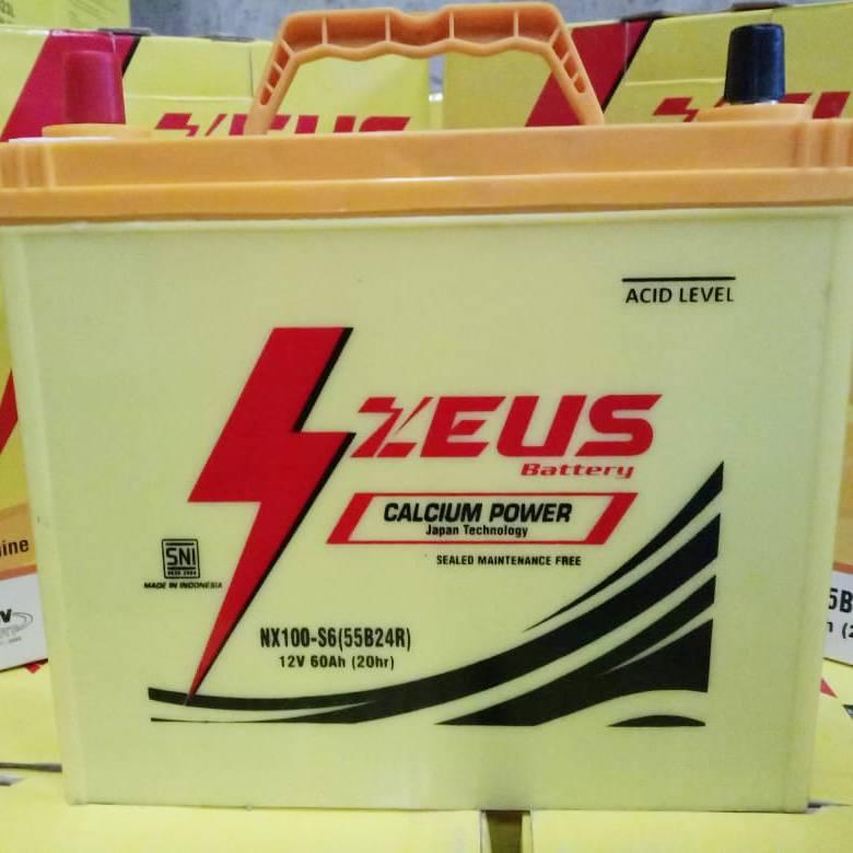 Aki Mobil Hyundai Kia Visto Nx100 S6 Zeus Accu Kering Calcium Power1