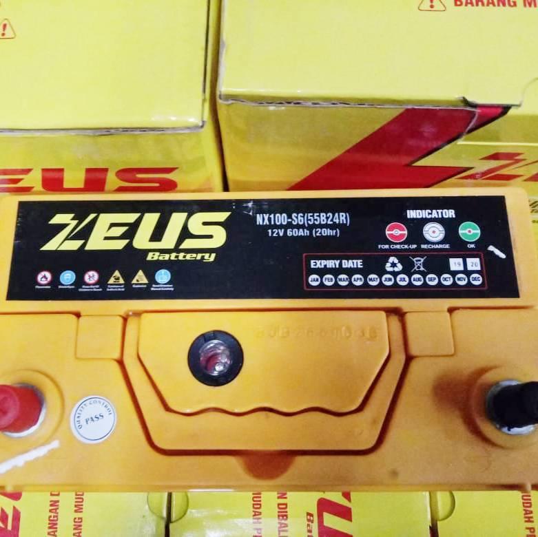 Aki Mobil Hyundai Kia Visto Nx100 S6 Zeus Accu Kering Calcium Power4