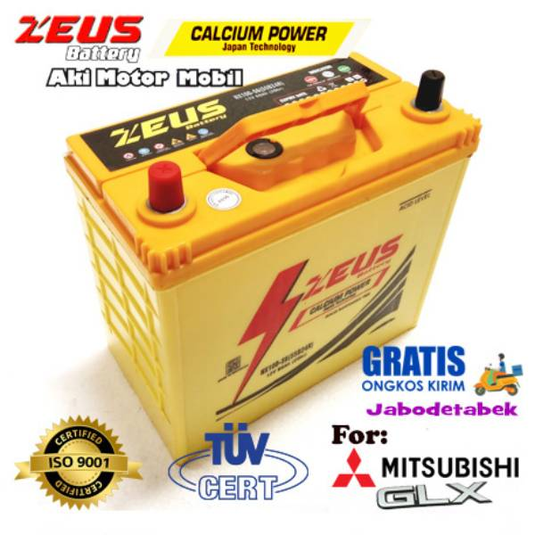 Aki Mobil Mitsubishi Glx Nx100 S6 Zeus Accu Kering Calcium Power
