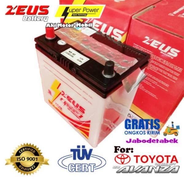 Aki Mobil Toyota Avanza Zeus Ns40 32ah Aki Basah Low Maintenance