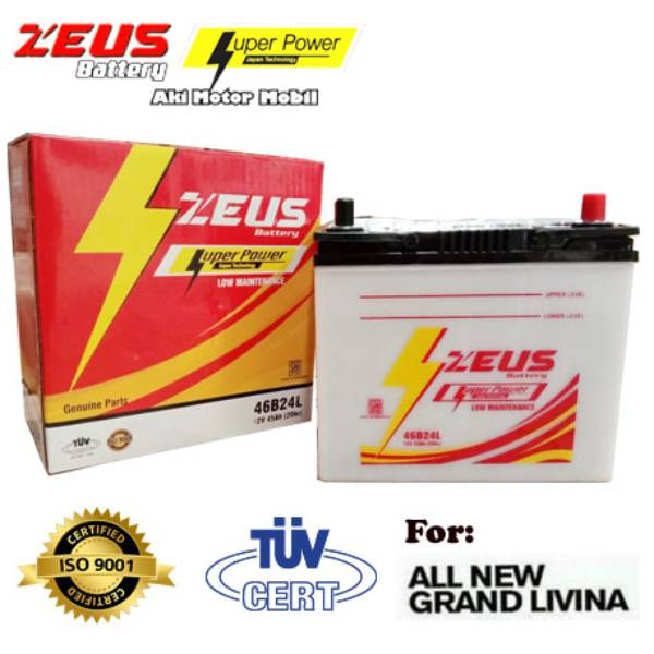 Aki Mobil Grand Livina Ns60l Zeus Accu Basah Low Maintenance / Lm