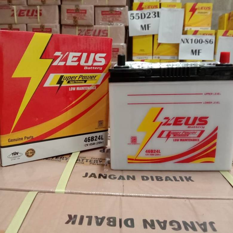 Aki Mobil Grand Livina Ns60l Zeus Accu Basah Low Maintenance / Lm1