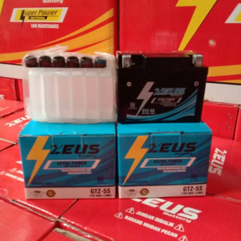 Aki Zeus GTZ5S untuk motor Yamaha Jupiter Z, Jupiter Z1, Jupiter MX1351