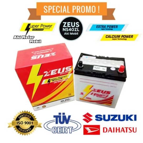 Aki mobil Chevrolet New Spark 1.0 merk Zeus NS40ZL Accu Basah1