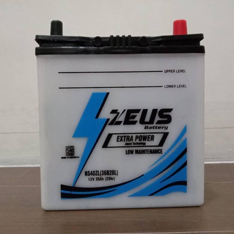 Aki mobil Ford Laser + Teistar + merk Zeus NS40ZL + Accu Basah3