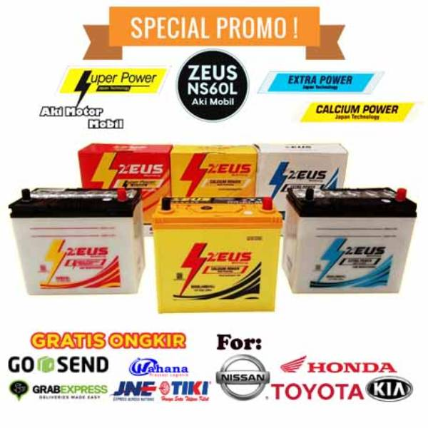 Aki Mobil Ford Laser series (1600/1800, Lyrix, New Laser) Zeus NS60L