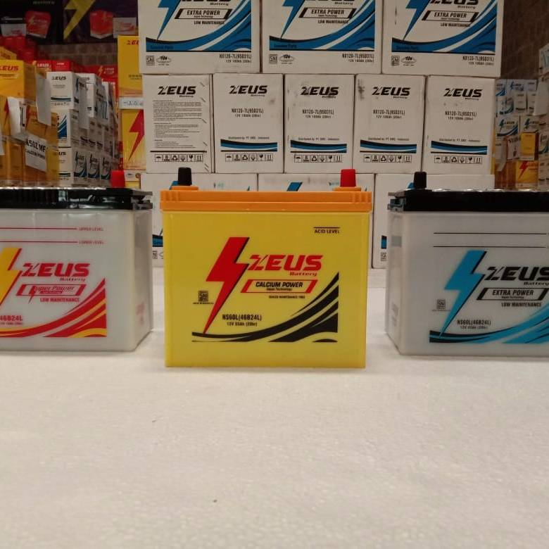 Aki Mobil Ford Laser series (1600/1800, Lyrix, New Laser) Zeus NS60L4