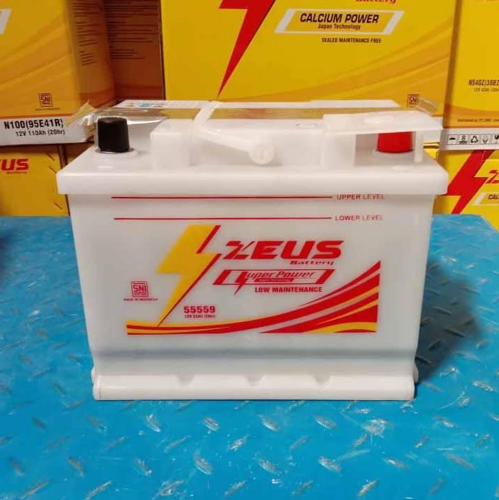 Aki Mobil Ford (Fiesta, Laser Sonic, Gala) Zeus 55559 Low Maintenance