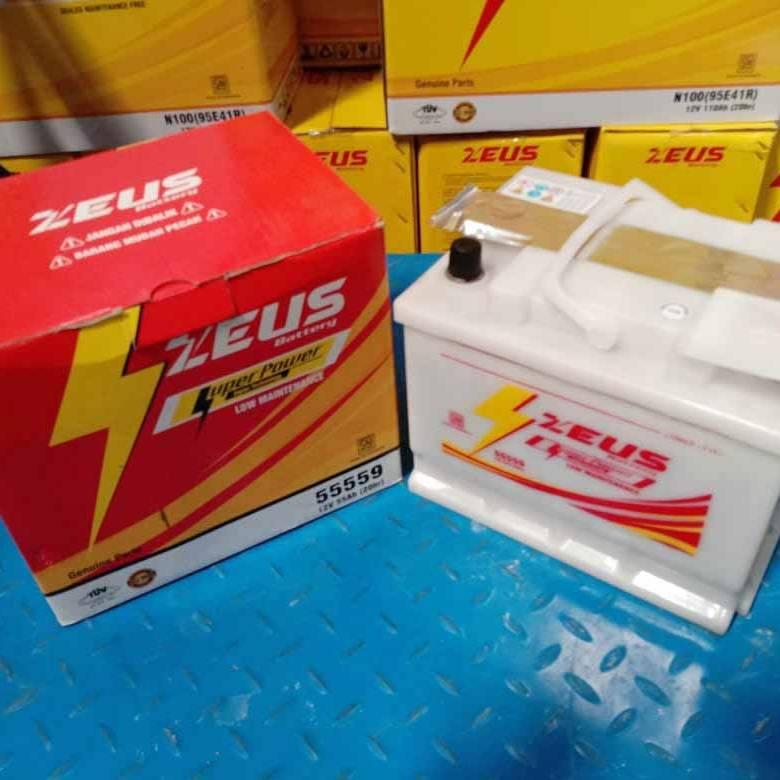 Aki Mobil Ford (Fiesta, Laser Sonic, Gala) Zeus 55559 Low Maintenance2