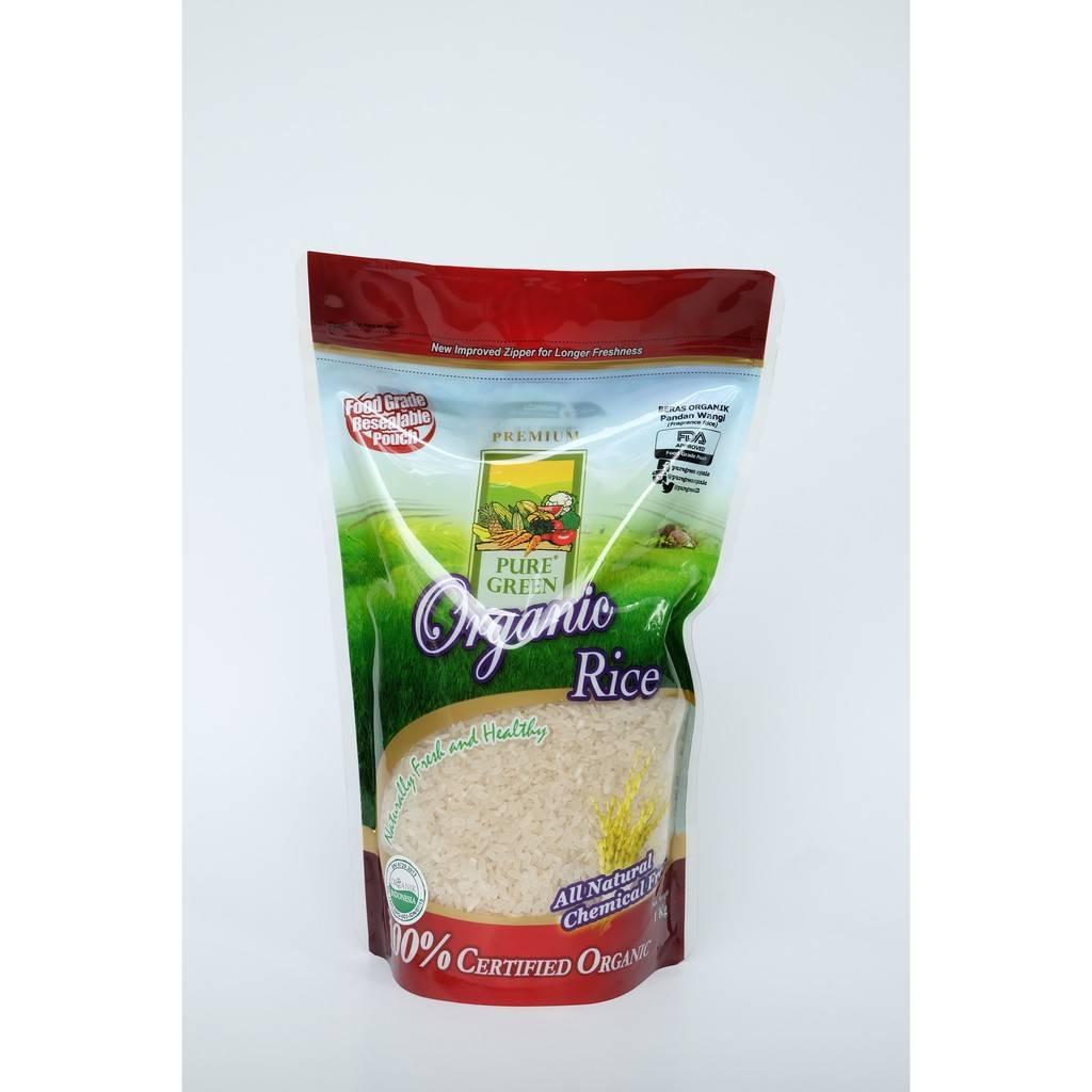 Beras Organik Pure Green Organic Pulen Wangi (fragrant Rice) 1 Kg1