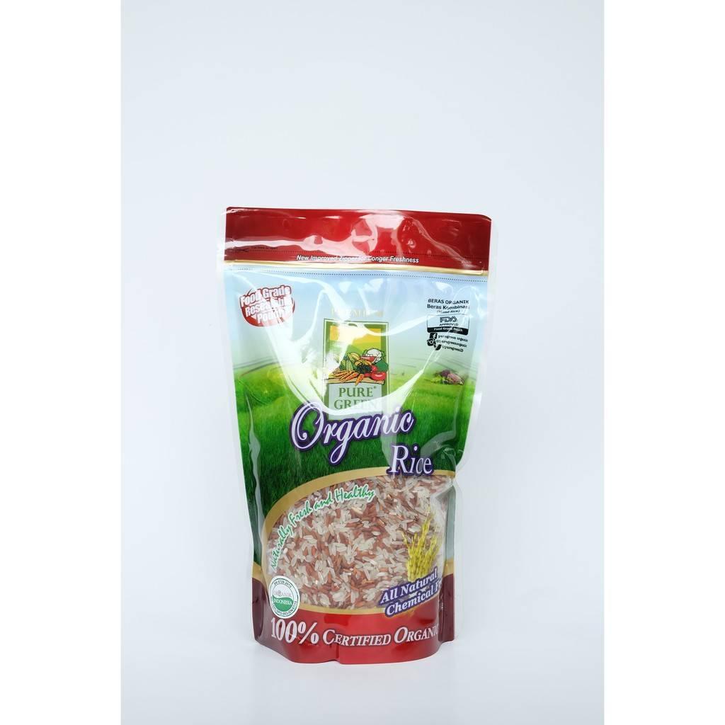 Beras Organik Pure Green Organic Beras Kombinasi 1 Kg - Khusus Gojek/grab Jakarta1