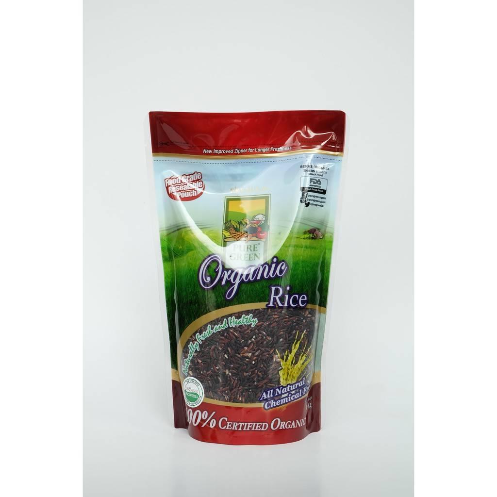 Beras Organik Pure Green Organic Beras Hitam 1kg - Khusus Gojek/grab Jakarta1