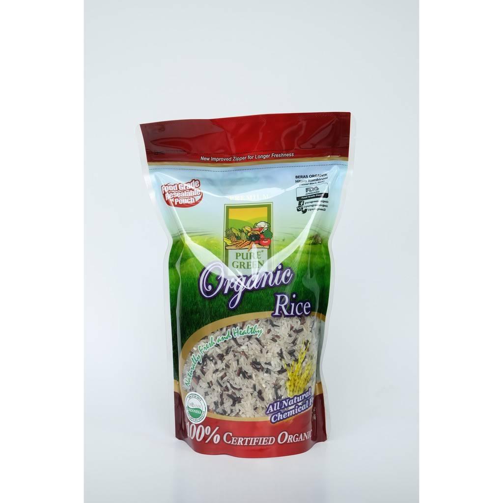 Beras Organik Pure Green Hitam Kombinasi 1 Kg