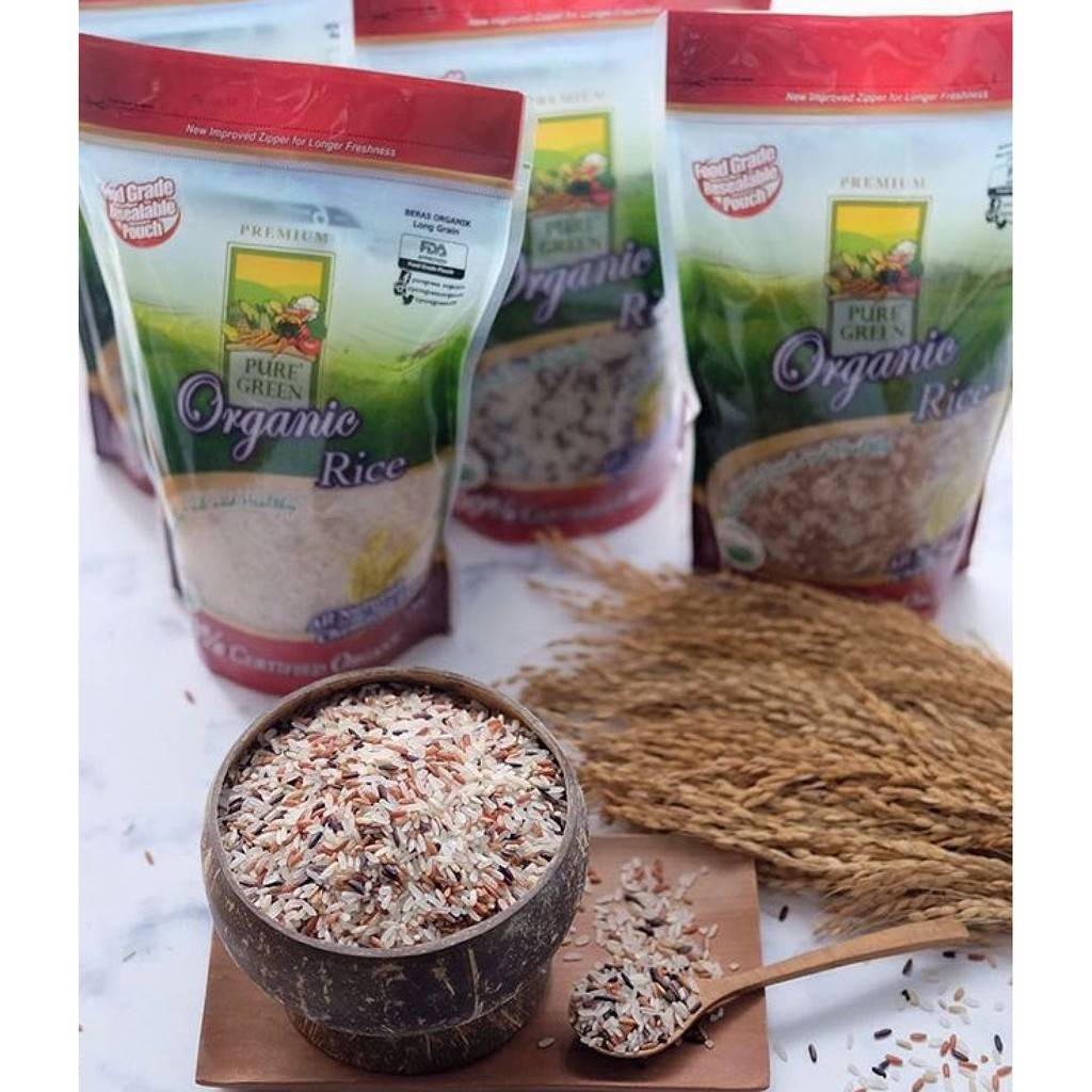 Beras Organik Pure Green Organic Multi Ethnic 1 Kg - Khusus Gojek/grab Jakarta