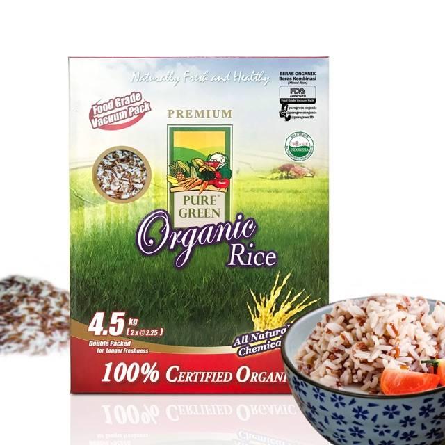 Organik Green Organic Rice Beras Kombinasi 4,5 Kg